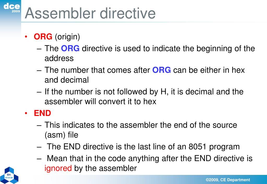 Assembler directive