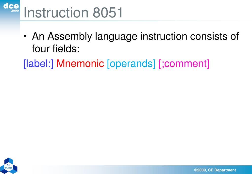 Instruction 8051