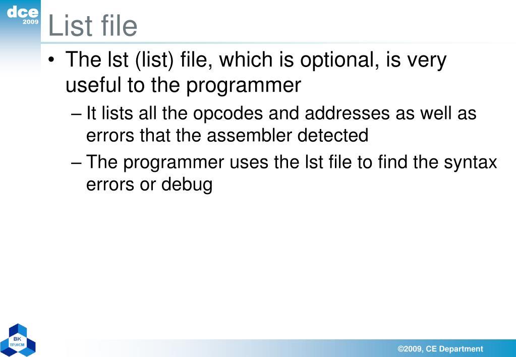 List file