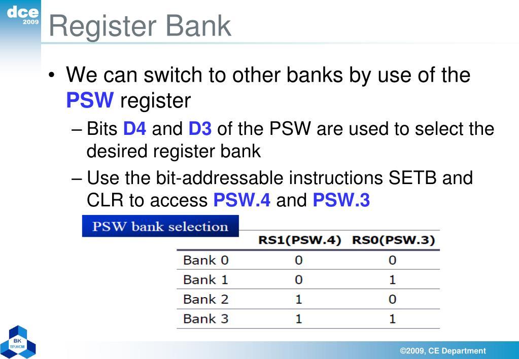 Register Bank