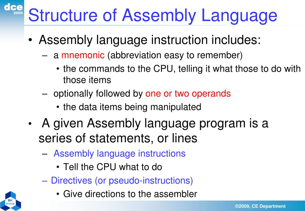 Structure of Assembly Language