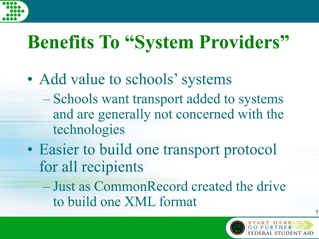 "Benefits To ""System Providers"""