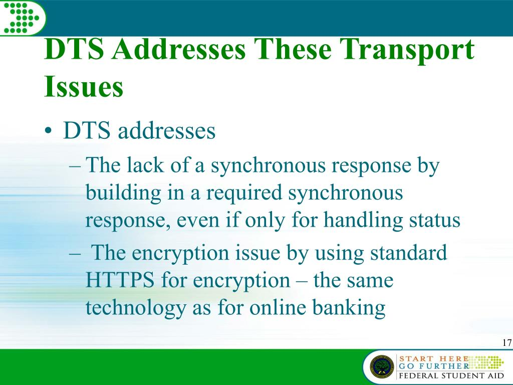 DTS Addresses These Transport Issues