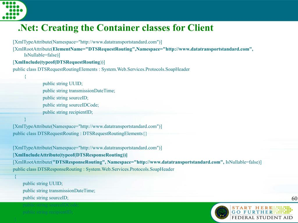 .Net: Creating the Container classes for Client
