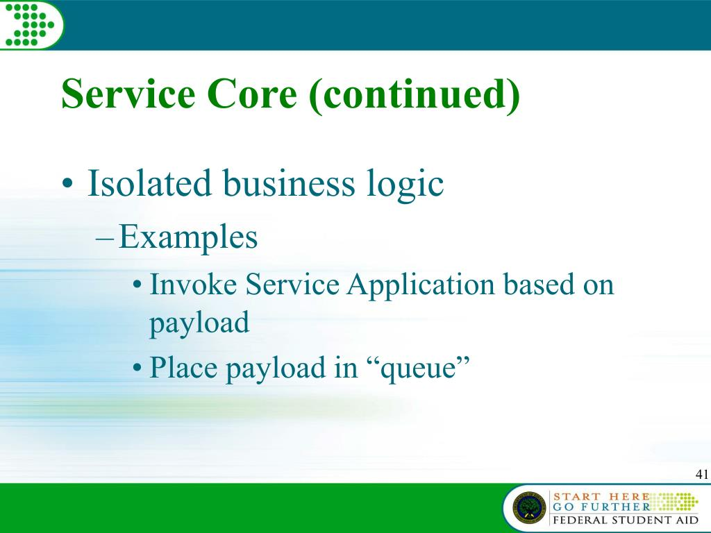 Service Core (continued)