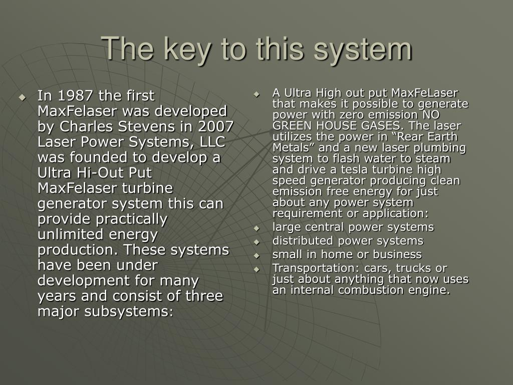 The key to this system