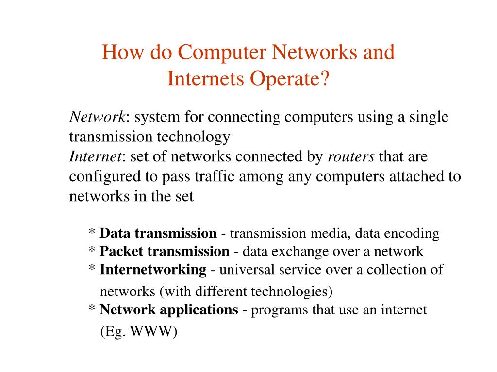 How do Computer Networks and