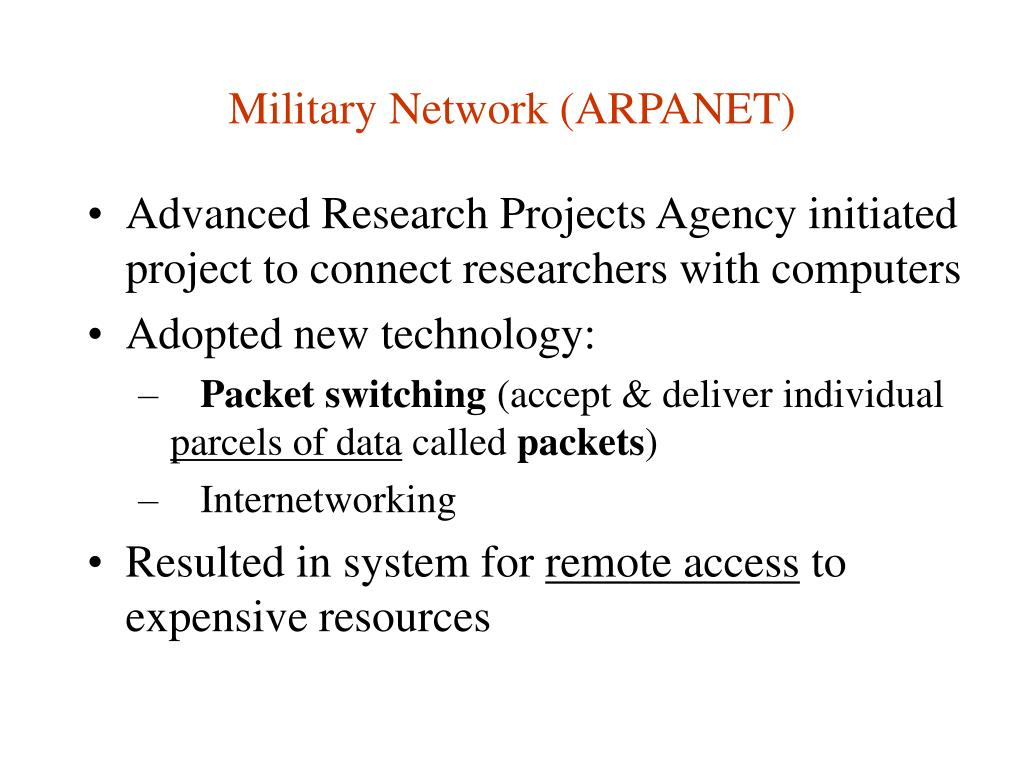 Military Network (ARPANET)