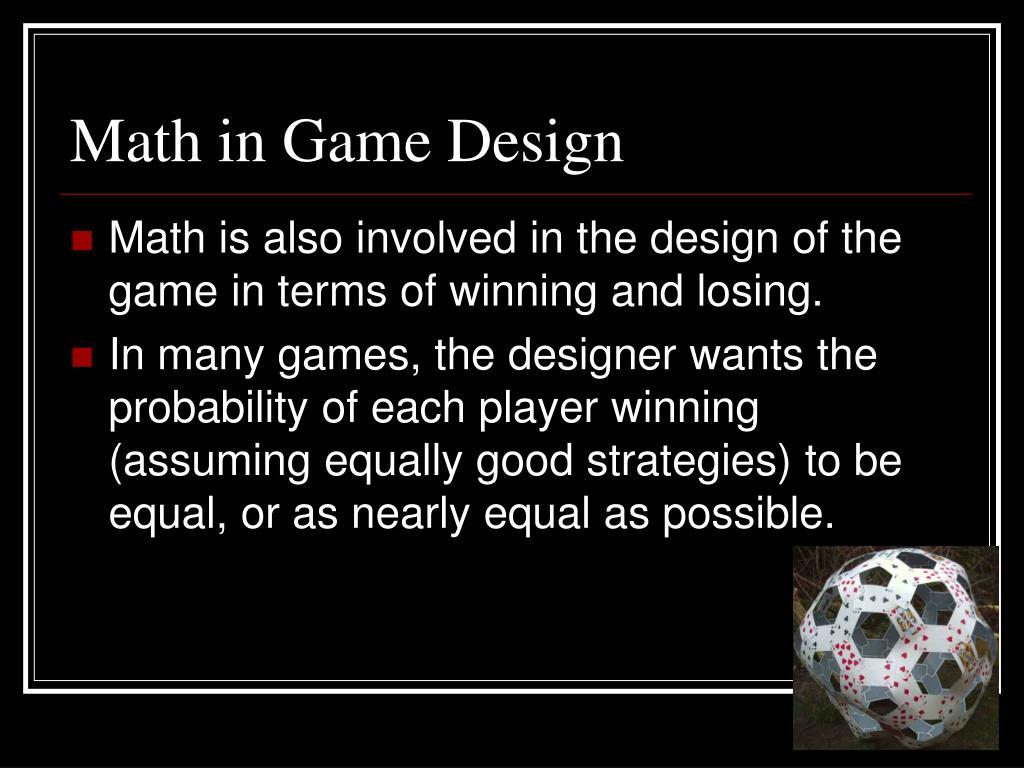 Math in Game Design