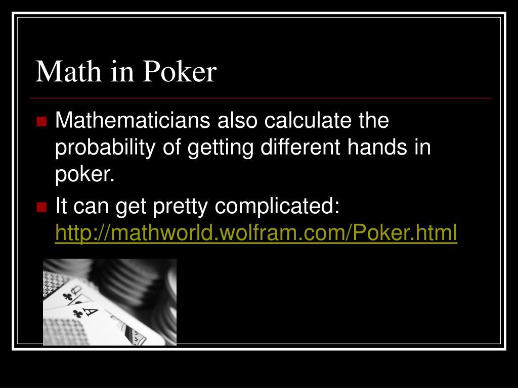 Math in Poker
