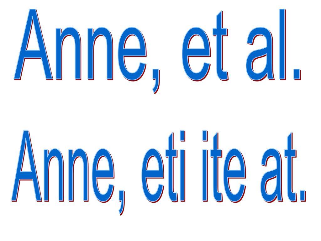 Anne, et al.