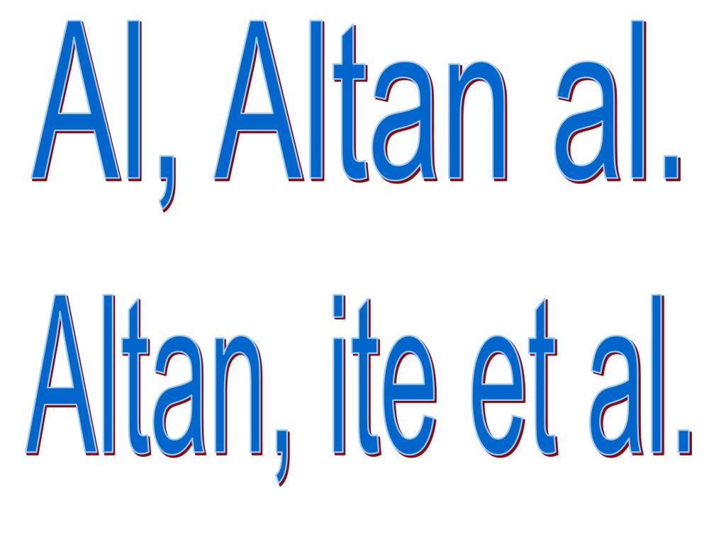 Al, Altan al.