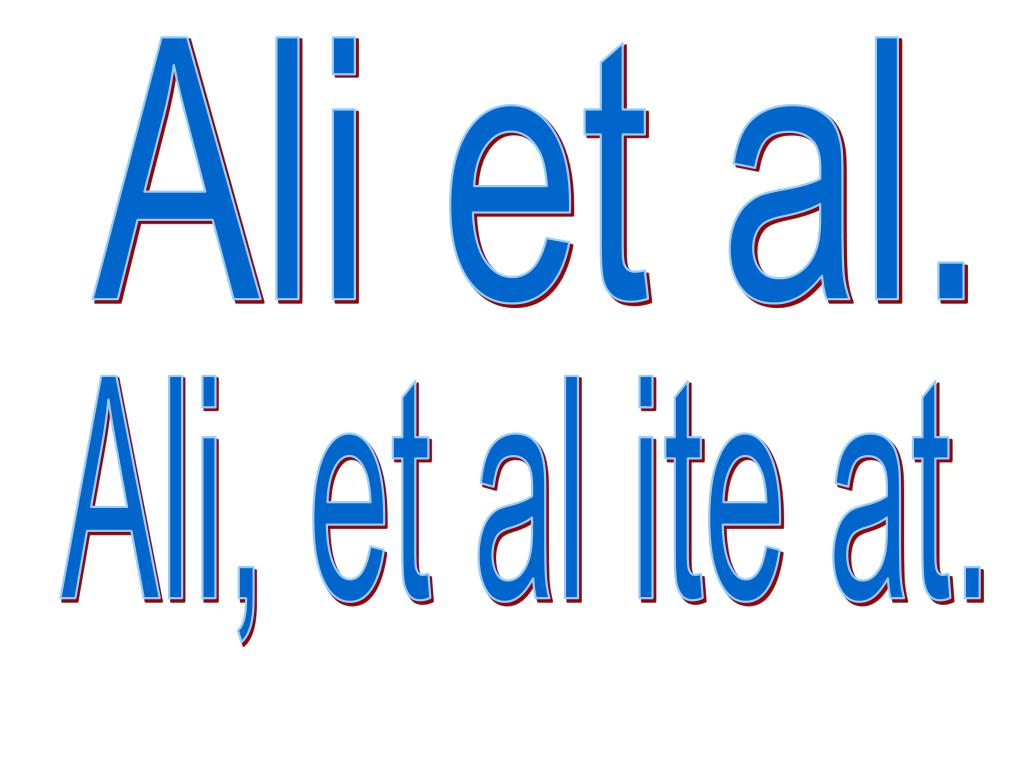 Ali et al.
