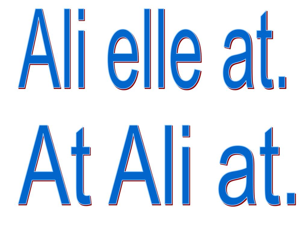 Ali elle at.
