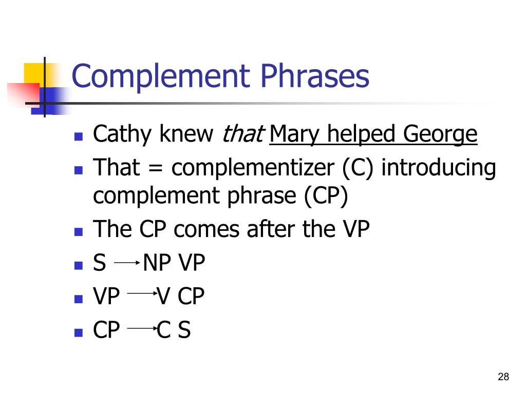 Complement Phrases