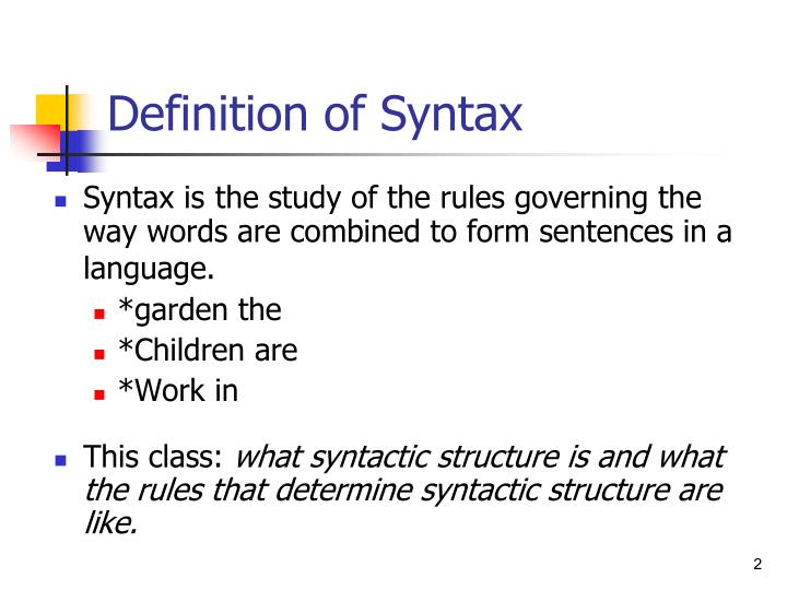 Definition of syntax l.jpg
