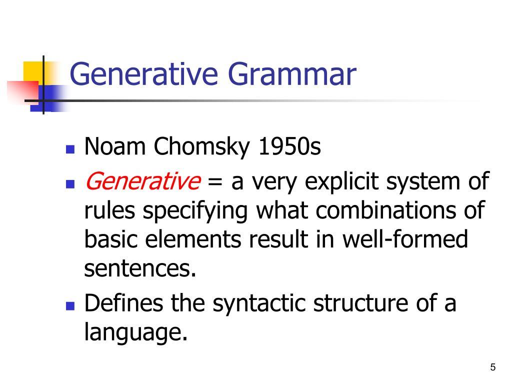 Generative Grammar