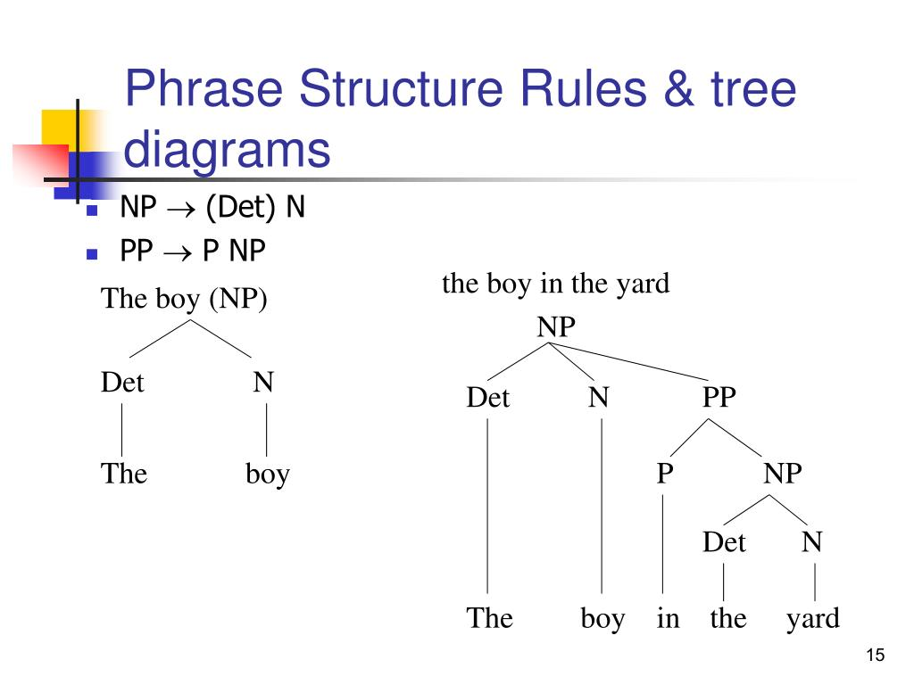 Phrase Structure Rules & tree diagrams
