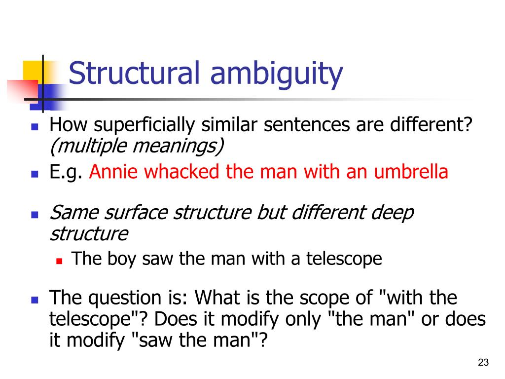 Structural ambiguity