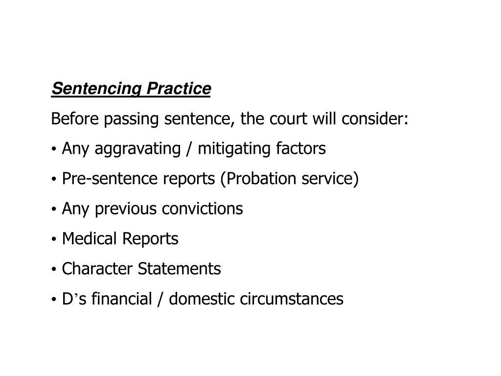 Sentencing Practice