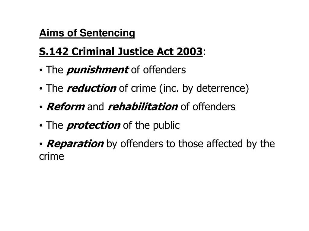 Aims of Sentencing