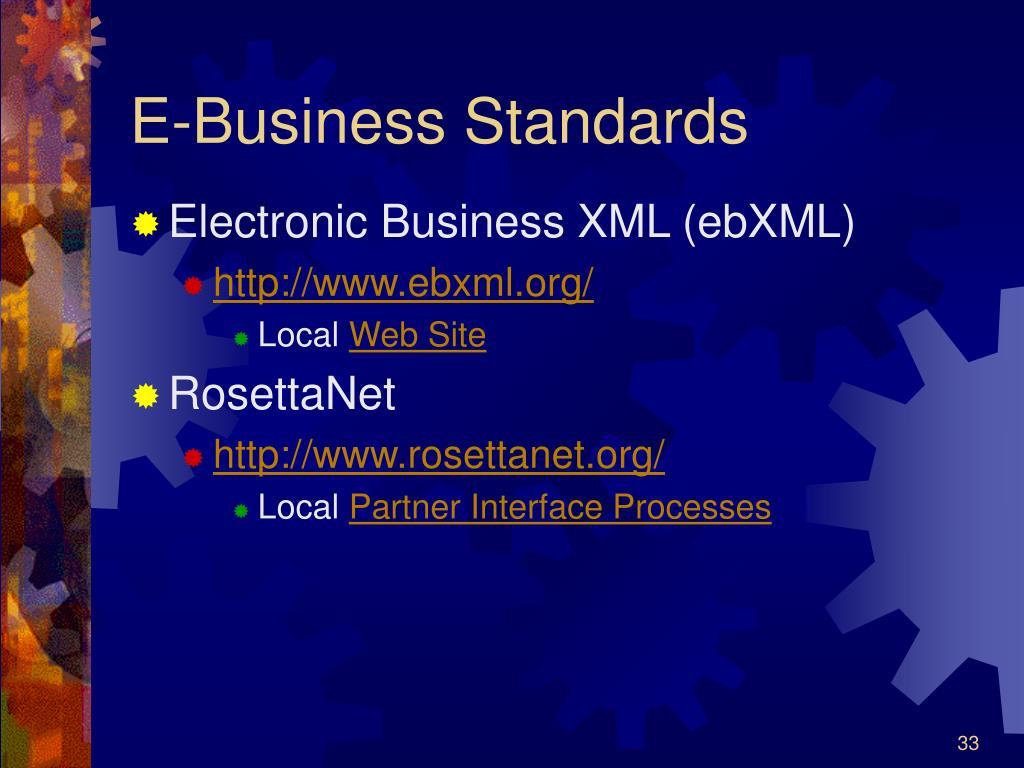 E-Business Standards