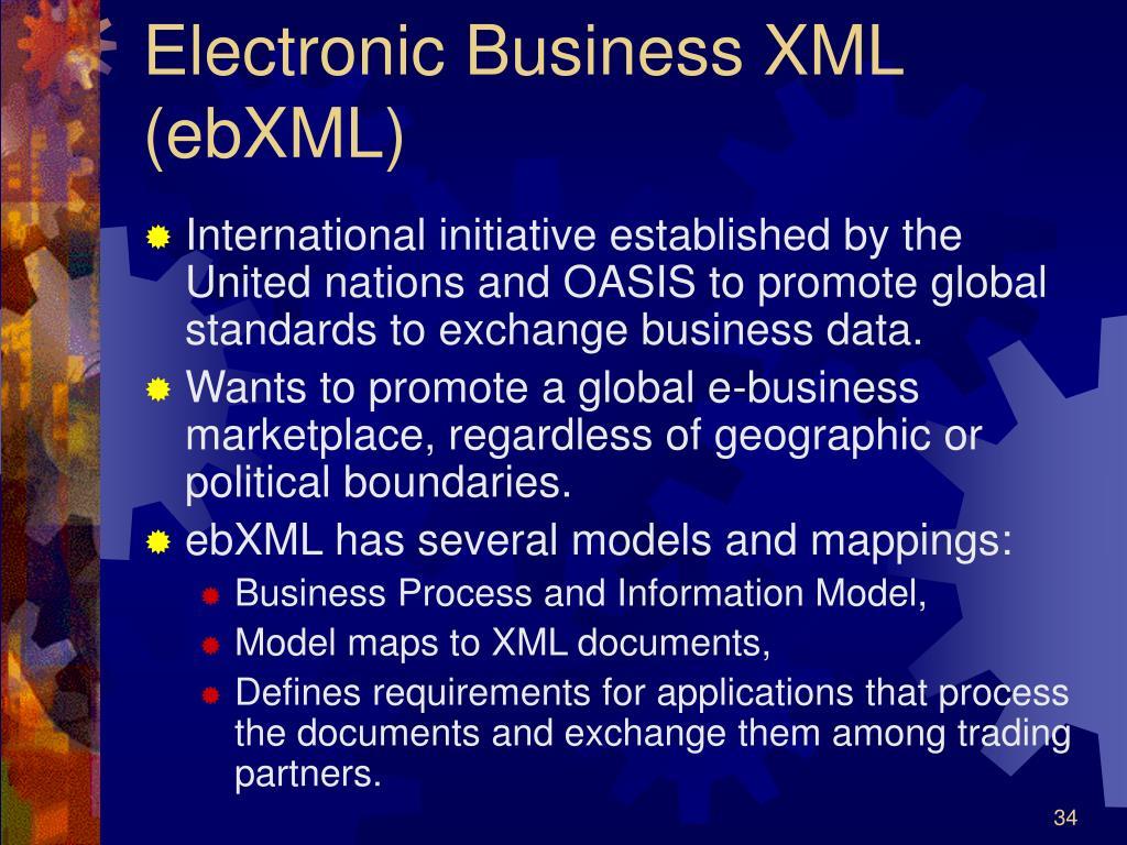 Electronic Business XML (ebXML)