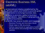 electronic business xml ebxml