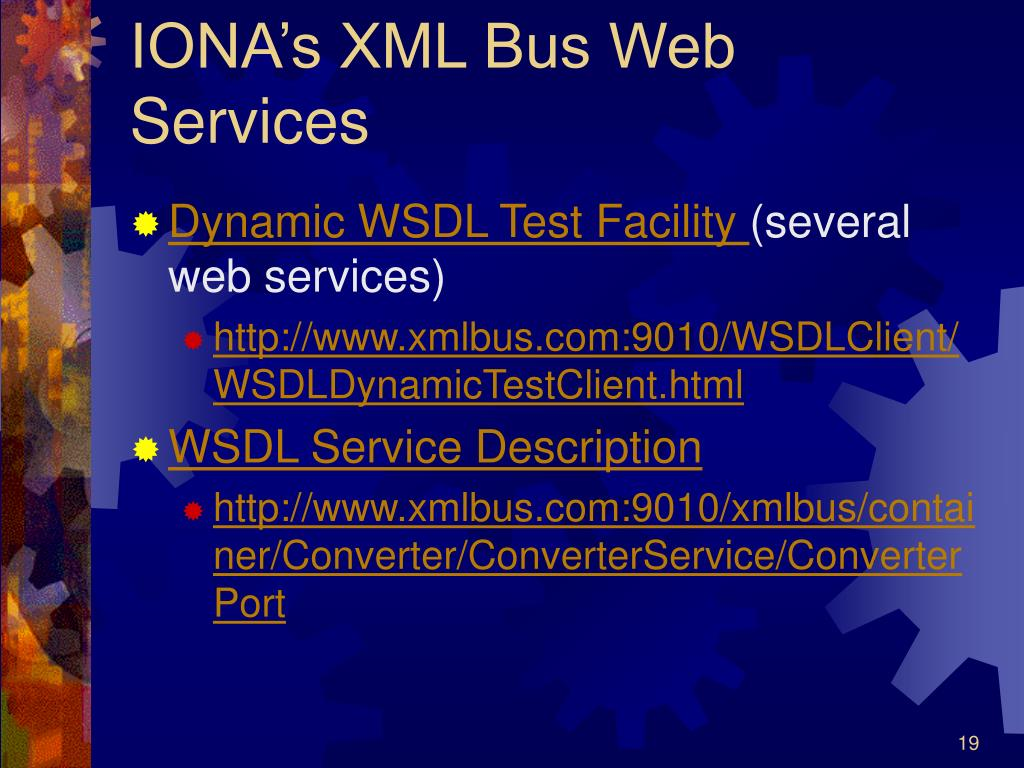IONA's XML Bus Web Services