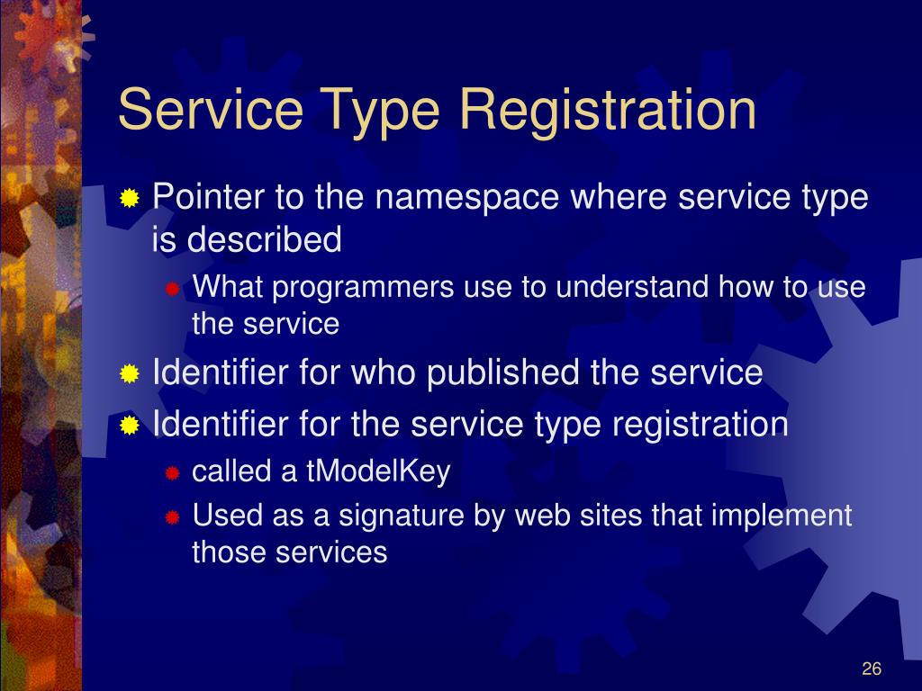 Service Type Registration