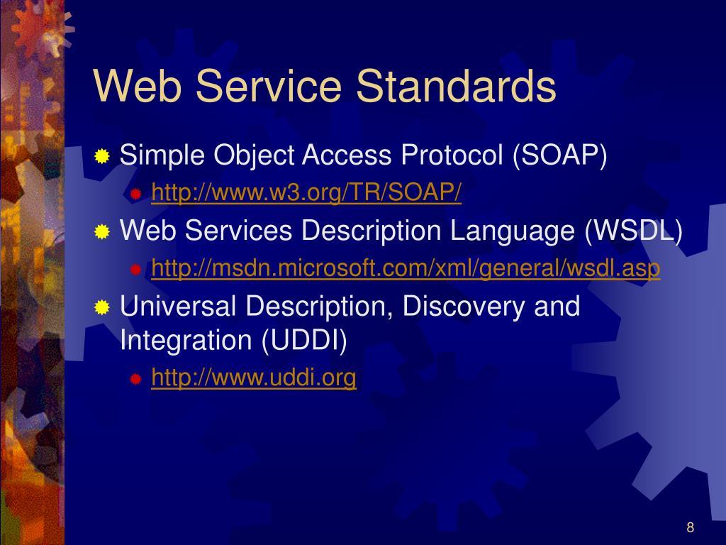 Web Service Standards