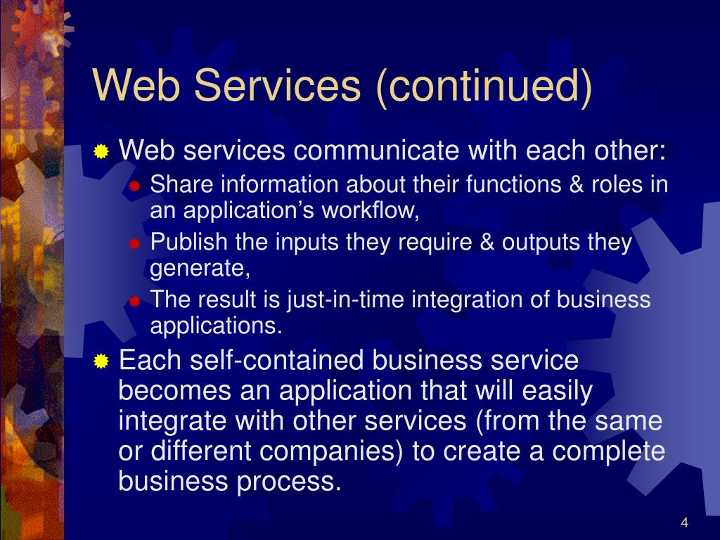 Web Services (continued)