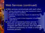 web services continued