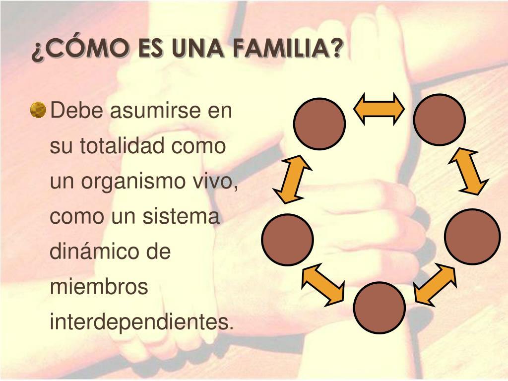 ¿CÓMO ES UNA FAMILIA?