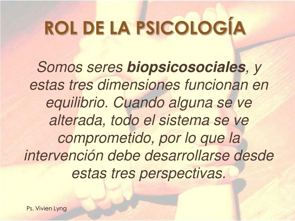 ROL DE LA PSICOLOGÍA