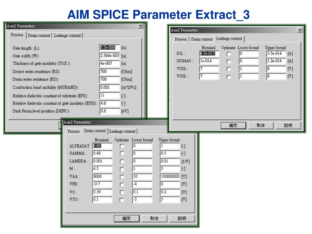 AIM SPICE Parameter Extract_3