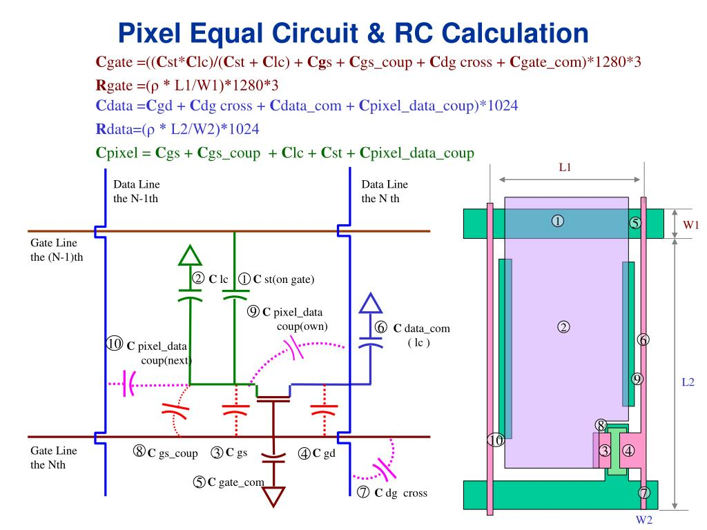 Pixel Equal Circuit & RC Calculation