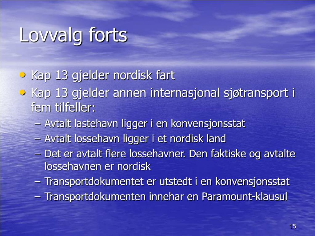 Lovvalg forts