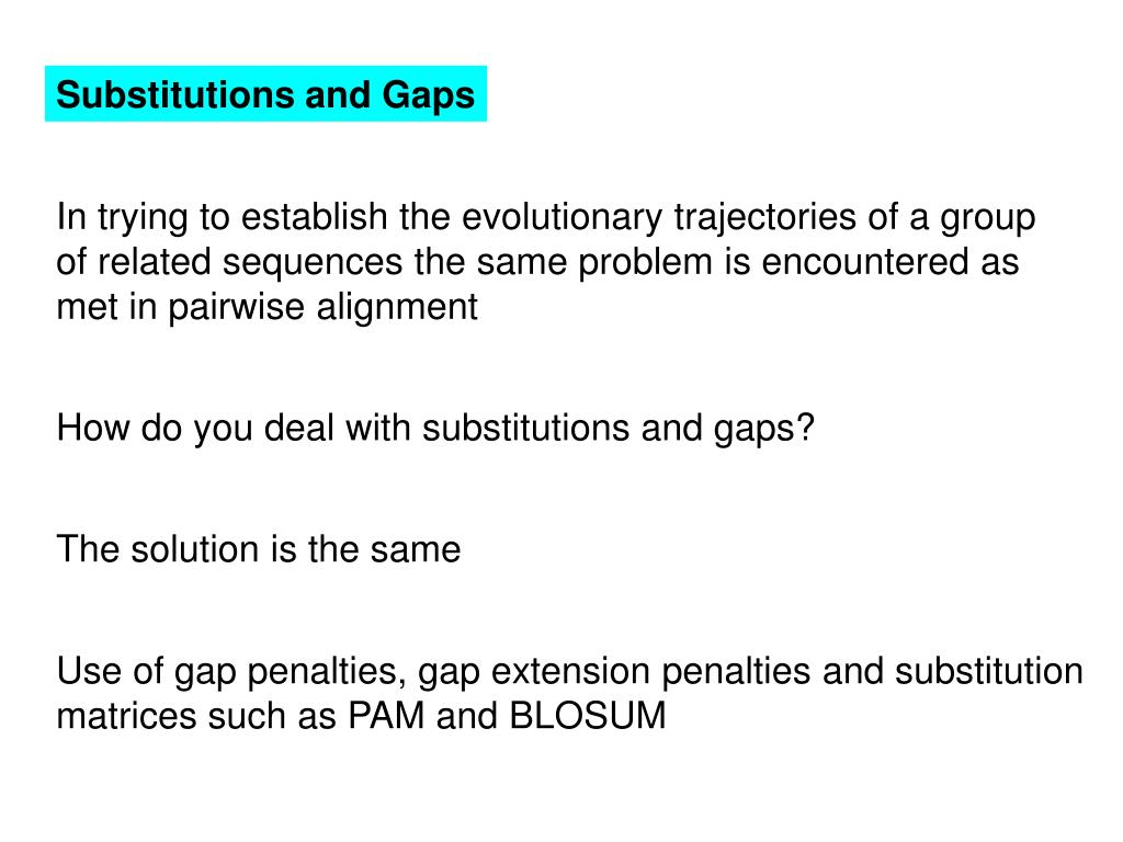 Substitutions and Gaps