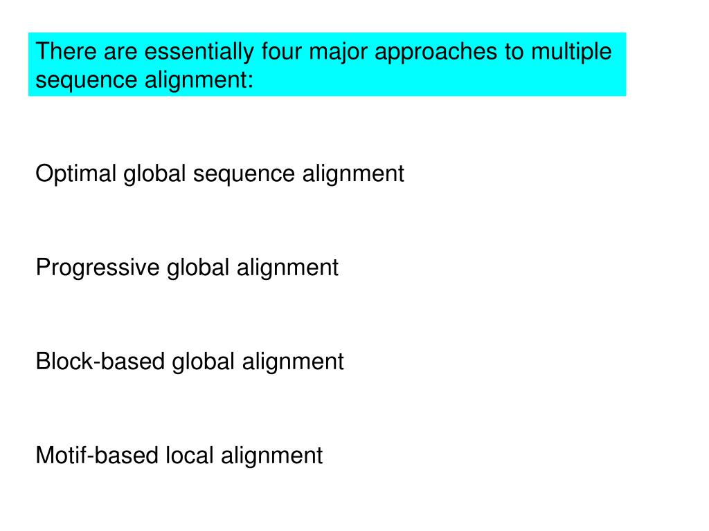 There are essentially four major approaches to multiple