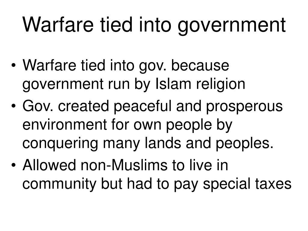 Warfare tied into government