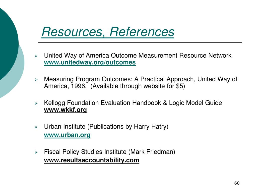 Resources, References