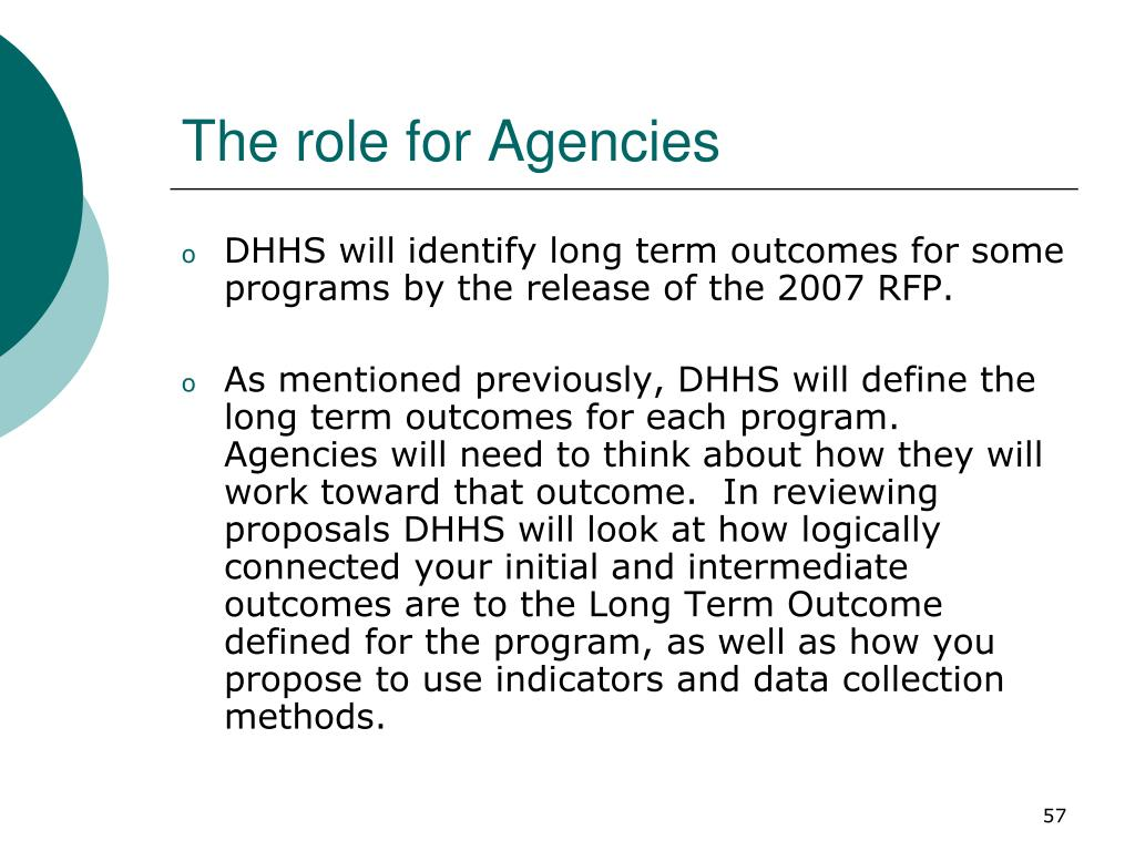 The role for Agencies