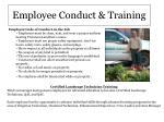 employee conduct training