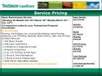 service pricing