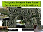 vineyards example free future replacement costs road maps
