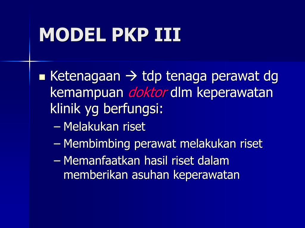 MODEL PKP III