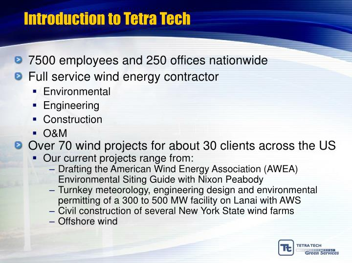Introduction to tetra tech