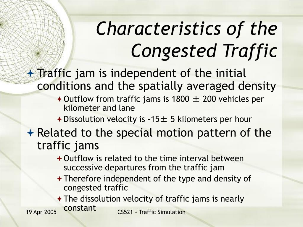 Characteristics of the Congested Traffic