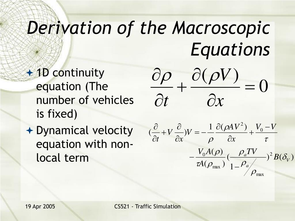 Derivation of the Macroscopic Equations